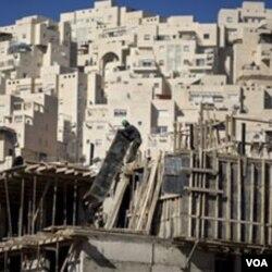 Permukiman Yahudi di kawasan perumahan Har Homa, Yerusalem Timur. Israel menduduki Yerusalem Timur sejak perang Arab-Israel tahun 1967.