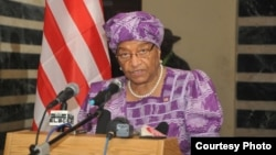 Liberian President Ellen Johnson Sirleaf addresses the nation about the Ebola virus outbreak.