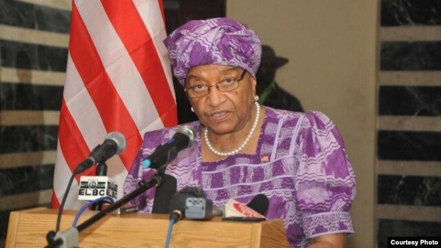 Liberian President Ellen Johnson Sirleaf addresses the nation about the Ebola virus outbreak.