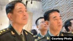 中国军方高级军事情报将领杨晖(左) (网络图片)