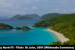 Trunk Bay in the Virgin Islands National Park, part of the US National Park Service