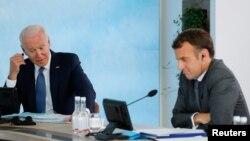 Madaxweyne Biden iyo Macron
