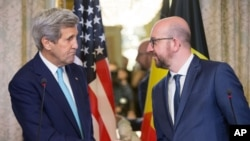 جان کری در بلژیک با نخست وزیر بلژیک و دیگر مقامها دیدار کرد.