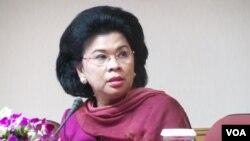 Menteri Negara Pemberdayaan Perempuan dan Perlindungan Anak Linda Gumelar. (VOA/Iris Gera)