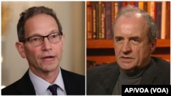 Čarls Kapčan i Januš Bugajski, međunarodni stručnjaci i poznavaoci translatlantskih i balkanskih prilika (Foto: AP/VOA)