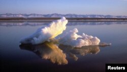 Sea ice floats within Arctic National Wildlife Refuge, Alaska, undated handout photo from U.S. Fish and Wildlife Service.