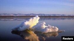 Sea ice floats within Arctic National Wildlife Refuge, Alaska, undated handout photo from U.S. Fish and Wildlife Service.