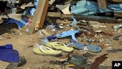 A harabar wata mashaya kenan bayan harin da 'yan Boko Haram Suka kai a birnin Maiduguri.