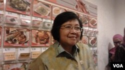 Menteri Lingkungan Hidup dan Kehutanan Siti Nurbaya. (VOA/Iris Gera)