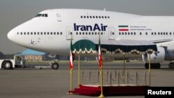 FILE - A IranAir Boeing 747SP aircraft is pictured before leaving Tehran's Mehrabad airport, Sept. 19, 2011.