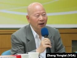 台湾前民进党主席许信良(美国之音张永泰拍摄)