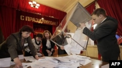 Подсчет голосов на прошедших парламентсикх выборах