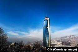 """""""Twist Tower"""", sjedište preduzeća """"Avaz-roto press"""" nad kojim je Fahrudin Radončić zadržao pravo kontrole, iako ga je formalno prodao bivšoj supruzi."""