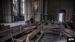 ეკლესია შუშაში, დამბომბვის შემდეგ