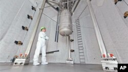 Laboratorio subterráneo que realiza el experimento en una mina de oro abandonada.