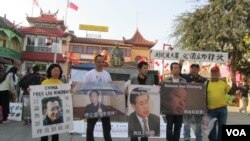 洛杉矶人权日游行要求中国释放 刘晓波等所有良心犯