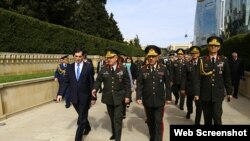 Jandarma Genel Komutanı Orgeneral Yaşar Gürel (sol 2), ( Resul Rehimov - Anadolu Ajansı )