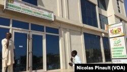 Les locaux de la Céni à Niamey, le 17 février 2016. (Nicolas Pinault/VOA)