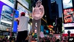 Protesto em Times Square