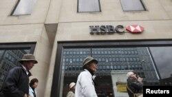 Trụ sở của ngân hàng HSBC ở trung tâm London.