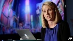 CEO Yahoo Inc Marissa Mayer berbicara dalam sebuah konferensi pers di New York. (Foto: Dok)