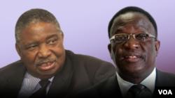 Le nouveau vice-président Emmerson Mnangagwa et le deuxème vice-président Phelekezela Mphoko ont prêté serment vendredi au Zimababwe.