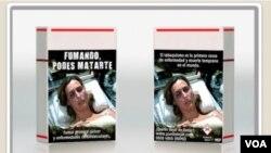 """Una de las imágenes muestra a una enferma terminal. El director de Salud, Jorge Basso, dijo que son pictogramas """"fuertes""""."""