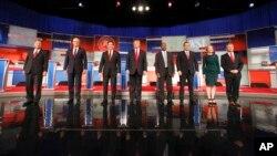 2015年11月10日,在威斯康辛州的密爾沃基,共和黨總統參選人進行第四次辯論。