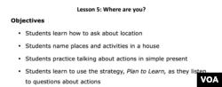 Lesson 5 Lesson Plan