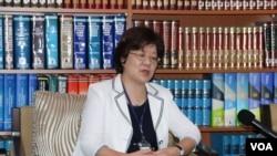 台湾外交部北美司司长萧美瑜(美国之音林枫拍摄)