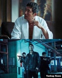 영화 '공조'에서 배우 김주혁이 남한으로 숨어든 북한 범죄조직 리더 차기성을 연기하는 장면. (CJ엔터테인먼트 제공)