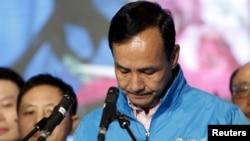 2016年1月16日台湾国民党总统候选人朱立伦承认选举失败