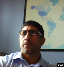 传统基金会的研究员杰夫·史密斯(Jeff Smith)通过Skype接受美国之音采访。(2020年6月17日)