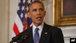 Tổng thống Hoa Kỳ Barack Obama nói về tình hình Iraq tại Tòa Bạch Ốc 7/8/14