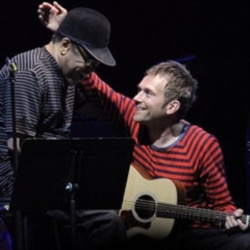 Bobby Womack, left, with Damon Albarn of the Gorillaz at the Coachella music festival in California last April