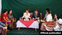 Ms. Christine Schraner Burgener IDP စစ္ေ႐ွာင္စခန္း ေတြကို သြားေရာက္ (MOI)