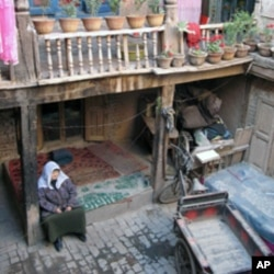 喀什的维族院落(资料照片)