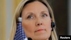 美国国务院负责军备控制和国际安全事务的国务次卿汤普森2019年1月30日在北京参加联合国安理会五个常任理事国的一个会议。