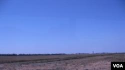 俄罗斯主要产粮区,南部克拉斯诺达尔地区的农田(美国之音白桦)