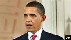 奥巴马总统周二在白宫举行的记者会上