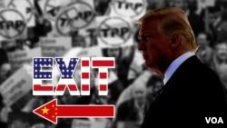 TPP đổ bể sau khi Tổng thống Donald Trump rút Mỹ ra khỏi hiệp định thương mại xuyên Thái Bình Dương và điều này làm cho các hiệp định thương mại do ASEAN và APEC hậu thuẫn là đích nhắm của Trung Quốc.