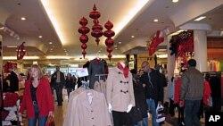 美国民众圣诞前夜梅西百货购物