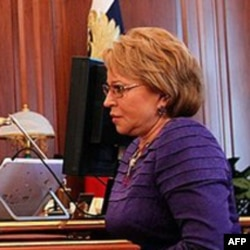 俄罗斯议会上院联邦委员会的主席瓦伦蒂娜.马特维克