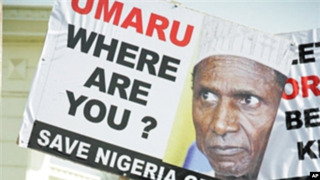 A protest in Abuja over a power vacuum created by the absence of President Umaru Yar'Adua, who has been away for 7 weeks receiving treatment in Saudi Arabia (File)