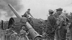 British forces in action during World War One