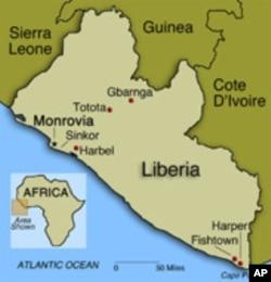 Map of Liberia