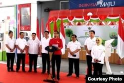 Presiden Joko Widodo resmi memulai penerapan program biodiesel 30 persen atau B30 di Jakarta Senin, 23 Desember 2019. (Foto: Humas Setneg)