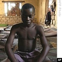 Recruited child soldier in the Democratic Republic of Congo