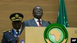 Presiden Zimbabwe Robert Mugabe dalam KTT Uni Afrika di Addis Ababa, 30 Januari 2016 (Foto: dok).