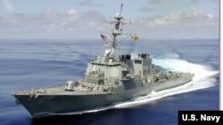 """美国海军""""科尔号""""驱逐舰(资料照)"""